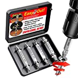 SKmoon Damaged Screw Remover and Extractor Set , Made From H.S.S. 4341#, the Hardness Is 62-63hrc ( Set of 4 )