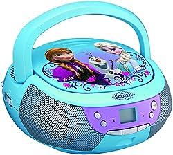 Kaufen ekids FR-430 Disney Frozen CD-Player mit Mikrofon für Kinder tragbar Anna und ELSA blau
