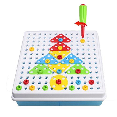 jeu de construction mosa que jouet assemblage puzzle blocs 180 pcs enfant fille garcon 3 ans 4. Black Bedroom Furniture Sets. Home Design Ideas