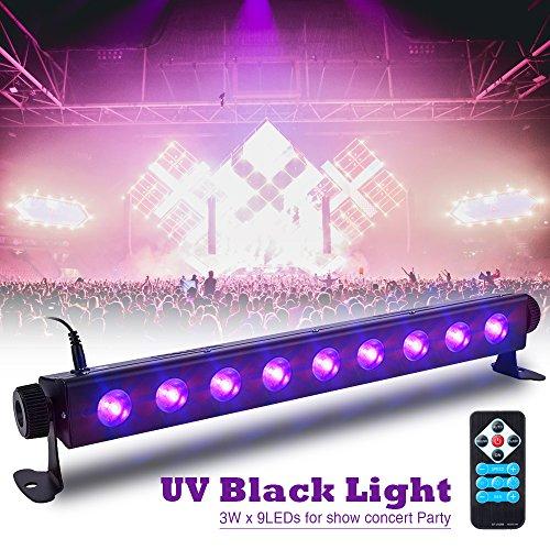 Luce Effetto UV, SOLMORE Luci Disco UV 9 LED per Halloween con Controllo Remoto Blacklight Luci da...