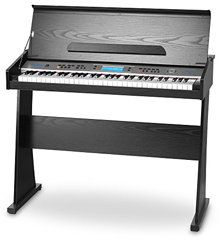 Piano digital de madera con 61 teclas y altavoces integrados