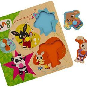 Bing Rompecabezas de Madera, Multicolor, 1.5 x 22 x 22 cm (Golden Bear Products Ltd 3513)