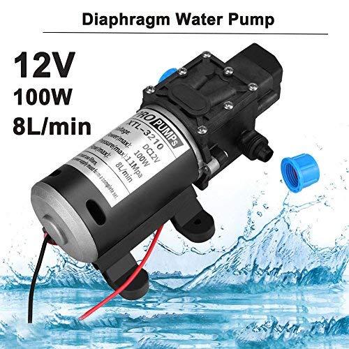 Pompe à eau à membrane, amorçage automatique, haute pression, 160psi 8l/min 100W 12VCC