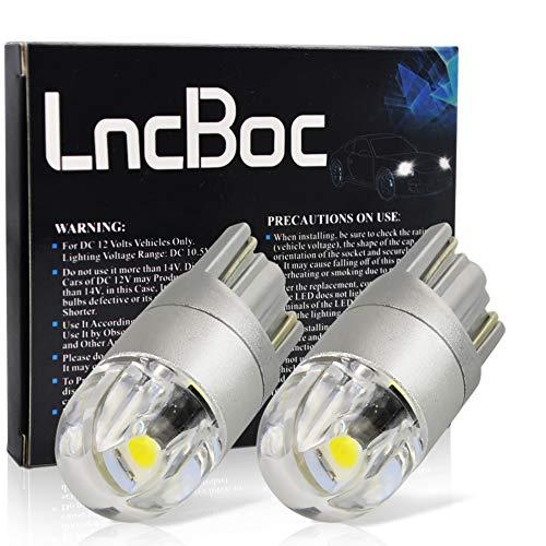 LncBoc T10 LED Auto Lampadina W5W LED luci dell'automobile Bulb 2SMD 3030LED 6000K Blanco 194 168...