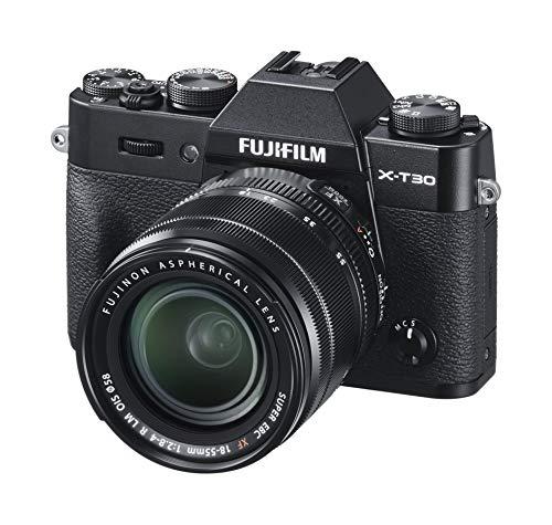 Fujifilm X-T30 Black e Obiettivo XF18-55mm F2.8-4 R LM OIS, Fotocamera Digitale da 26MP, Sensore...