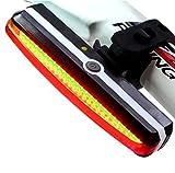 Rosso di luci LED per bicicletta, luce Fanale posteriore per Bici, USB Ricaricabile, 6 modalità di luce, resistente all' acqua, 180 ° luce vista