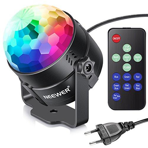 Neewer Mini Luce LED Spotlight Faretto da Palco a Controllo Vocale per Feste con Telecomando, Luce...