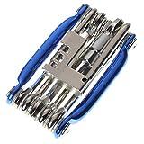 Dastrues Attrezzi per riparare le biciclette 11 in 1 set Cacciavite a chiave a chiave esagonale Apribottiglie Acciaio resistente