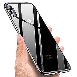 Kaufen UBEGOOD iPhone X handyhülle, Kratzfeste Hülle iPhone X Schutzhülle Crystal Soft TPU Case Ultradünn Cover Bumper Case iPhone X Silikon Hülle für iPhone X Case Cover - Jet Schwarz