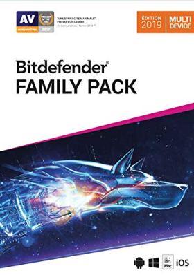Bitdefender Total Security - Family Pack 2019 | Standard | appareils illimités | 1 An | PC/Mac | Code d'activation - envoi par email