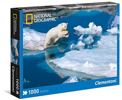 Clementoni 39304 - National Geographic Young Male Polar Bear Puzzle, 1000 Pezzi