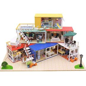 NROCF DIY Cabina De Madera Asamblea Modelo De Construcción del Sistema del Juguete con Música Ligera Ya Prueba De Polvo…