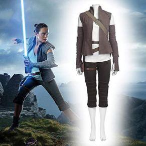 Disfraces para Adultos, Cosplay Star Wars Rey Disfraz Ropa Navidad Halloween Disfraces para Adultos Desgaste XS