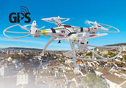 Jamara 422024 Drone con GPS, Bianco
