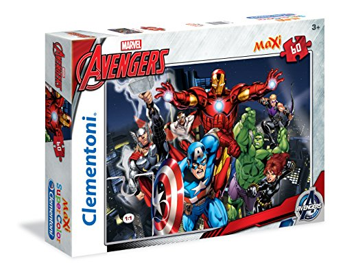 Clementoni - 26749 - Supercolor Puzzle - The Avengers, Avengers Assemble - 60 Maxi Pezzi