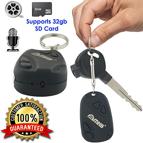 M MHB Best SPY Keychain Camera Series 2 & Hidden Spy Video Recorder, Features Video, and Photo, Smart Keychain Spy Camera Hidden Audio/Video Recording Support 32GB Memory