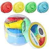 4 Colores Esponjoso Slime - Divertido, Colorido e Interactivo Juegos Libres de Estrés para Niños y Adultos - Nubes de Arcoíris Suaves, No-Pegajosas y Estirables | Azul, Verde, Amarillo, Rojo