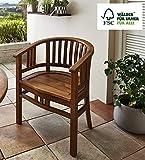 SAM Gartensessel Karlebo Stuhl mit Armlehnen, Gartenmöbel für Balkon & Terrasse, Akazien-Holz massiv, FSC 100% Zertifiziert - 2