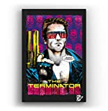 Arthole.it Arnold Schwarzenegger dal Film Terminator - Quadro Pop-Art Originale con Cornice, Dipinto, Stampa su Tela, Poster, Locandina