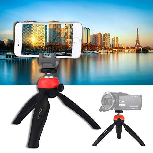 Carema treppiedi e Supporti, Treppiede Pocket PULUZ Mini con Testa a Sfera da 360 Gradi per Smartphone, GoPro, Fotocamere DSLR (: Rosso)