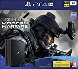 Sony PlayStation 4 Pro 1 To + Call Of Duty Modern Warfare, Avec 1 Manette Sans Fil Dualshock 4 V2, Châssis G, Noir (Jet Black), Art : 9324409