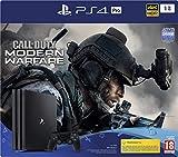 Sony PlayStation 4 Pro 1 To + Call Of Duty Modern Warfare, Avec 1 Manette Sans Fil Dualshock 4 V2, Châssis G, Noir (Jet Black), Art : 9324409