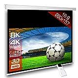 Écran de projection motorisé 274 x 154 cm SlenderLine Plus, Format 16:9 FULL-HD 3D 4K 8K, Écran de projection électrique pour vidéoprojecteur, Home Cinema, pour Mur ou Plafond, avec...