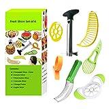 Xersex Multifunktionale Fruchtschneide Edelstahl Ananasschneider, Wassermelonen Schäler Schneider, Avocado Slicer, Banana Slicer, Orangenschäler, Apfel Slicer.