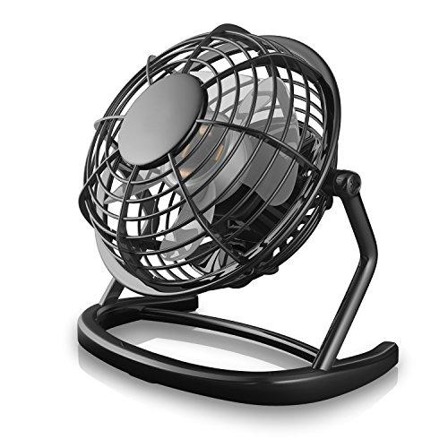CSL - Ventilatore USB | mini ventilatore da tavolo/ventola | PC/notebook | in nero