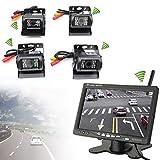 "4 x Funk Kabellos Auto LKW Rückfahrkamera Kabellos Nachtsicht Kamera + 7"" Auto Monitor KFZ Rückansicht"