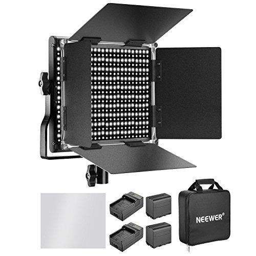 Neewer 660 LED Video Light Bicolore 3200-5600K CRI 96+Regolabile con Batteria Ricaricabile 6600mAh...