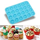 Bovake 24 Cavity Mini Muffin Silikon Seife Cookies Cupcake Bakeware Pan Tray Mold