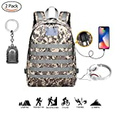 PUBG Level 3 Rucksack 35L Tactical Military MOLLE Assault Rucksack Pack Wasserdichte Tasche Rucksack Sport Outdoor Gear für die Jagd Camping Trekking mit USB Lade