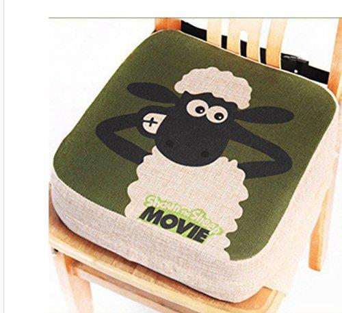 Cuscino per bambini, rialzo per sedia da pranzo - Cuscinetto portatile per sedia, imbottito, con...