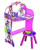 Los niños de color rosa Fashion muñeca tema tocador y taburete