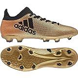 adidas X 17.3 FG, Scarpe da Calcio Uomo, Oro Gold/Schwarz/Rot, 41 1/3 EU