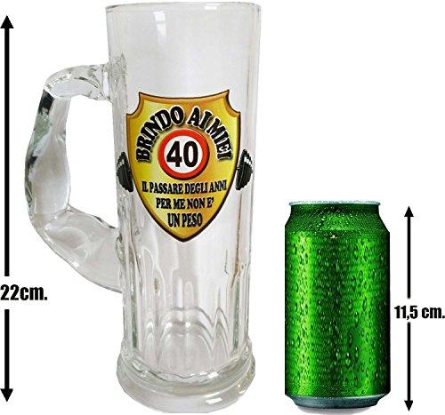 Boccale da birra per la festa di compleanno