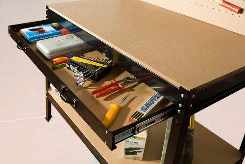 tabli d 39 atelier avec panneau outils construction en acier et bois avec tiroir 150 x 120 x 55. Black Bedroom Furniture Sets. Home Design Ideas