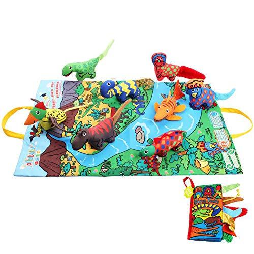 BESHU Libro di Stoffa per Bambini, Libro di Stoffa Tridimensionale, Educazione Precoce 6-12 Mesi...