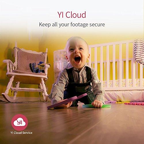 YI Telecamera di Sorveglianza 1080p IP Camera Videocamera WiFi 360° con Sensore Movimento Visione Notturna per iOS/Android (Bianca)