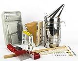 Imker Zubehör und Imker Werkzeug für Bienenzüchter inkl. Imker Smoker Imker Gabel Imker Besen Imker Meißel – das wichtigste Anfänger Set für Hobbyimker