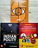 Indian Polity by M. Laxmikanth, Indian Art and Culture by Nitin Singhania and Certificate Physical And Human Geography by Goh Cheng Leong for Civil Services Exam (Set of 3 Books)