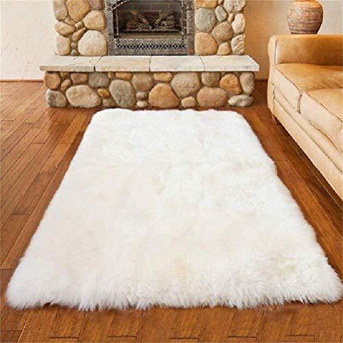 HEQUN Faux pelliccia di agnello di pecora tappeto, pelliccia sintetica decorativa Super Soffice...
