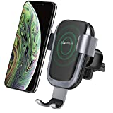 Caricatore Wireless Auto,Steanum Ricarica Rapida Wireless Auto Vento Supporto Telefono per iPhone Xs/Xr/X/8/8Plus/7,Samsung Note 5/8, Galaxy S9/S8//S7/S6 Edge+