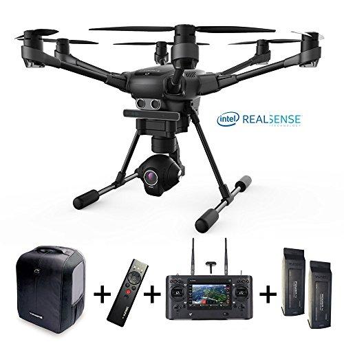 Yuneec Typhoon H versione Pro, Intel realsense, 4K, set con 2 batterie, zaino, videocamera CGO3 +...