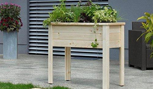 Balkon-Hochbeet Herb aus massiver Gebirgsfichte