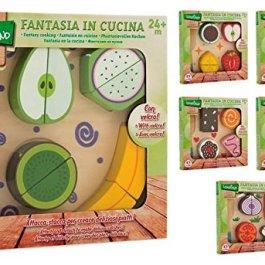 """Globo giocattoli in legno Legnoland""""95.712,3cm frutta e verdura con velcro"""