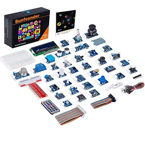 SunFounder - Raspberry Pi Kit con 37 Moduli Sensore per Raspberry Pi 4, 3, 2 e B+ con manuale di utilizzo