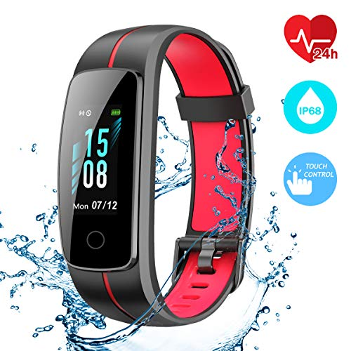 CHEREEKI Fitness Tracker, Cardiofrequenzimetro Smartwatch Controllo Musica, Schermo a Colori...