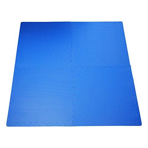 Outsunny HOMCOM Tappeto Gioco Bimbi 60x60cm Set 8 Pezzi, Materiale Isolante, Resistente all'umidità...